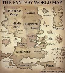 Fictional worlds all in one map