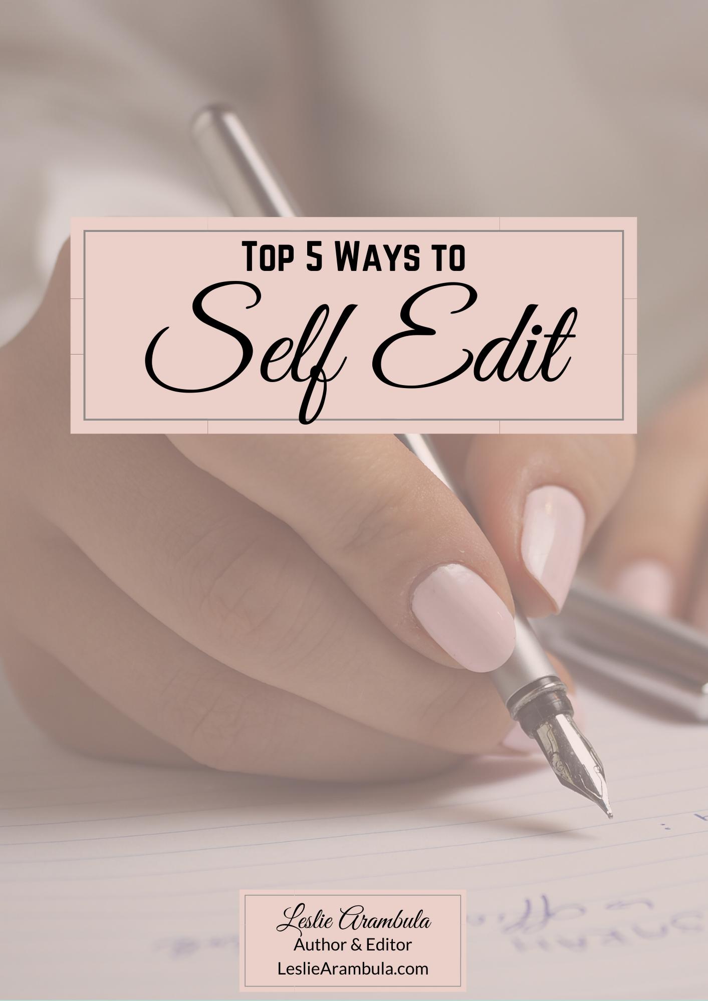 Leslie Arambula's self editing workbook
